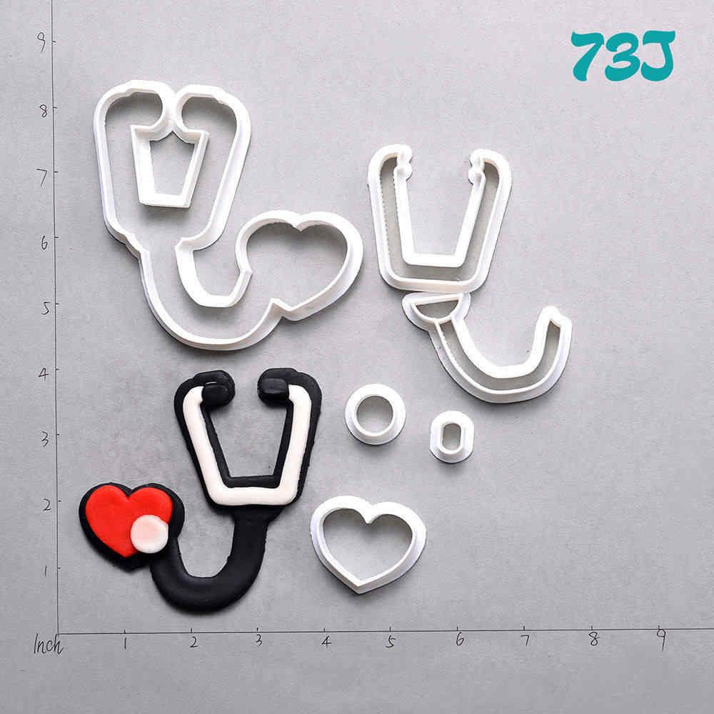 Equipamentos médicos Cortadores de Biscoito Projeto Custom Made 3D Impresso Fondant Queque Cortador de Acessórios de Cozinha
