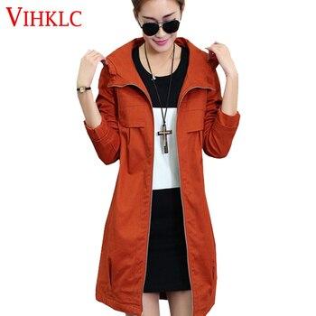 2017 fashion winter women's trench coat with a hood warm cotton spliced plus size windbreaker female XXXL 4XL outerwear  AY131