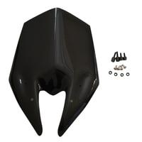 Black Motorcycle Windshield Windscreen For Kawasaki Z800 2013 2016 New
