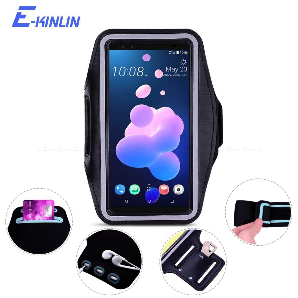 best website 0126d 1588c Arm Band Cover Case For HTC Desire 12s 12 10 Lifestyle Pro Compact Evo U11  U12 Plus Eyes U Life Ultra Play Sport Running Gym Bag