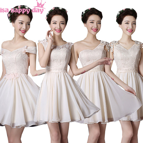 vintage bridesmaid short elegant one shoulder girls party sexy dress beautiful bridemaids fall party dresses under 50 B2668