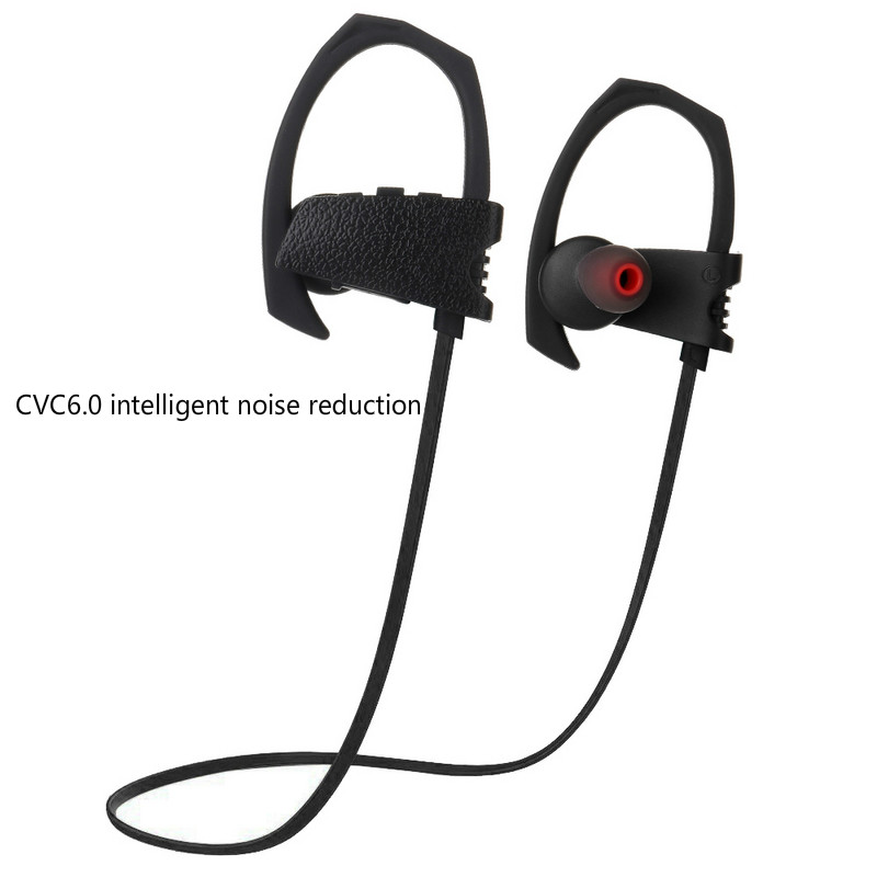 Wireless Bluetooth Earphone CVC6.0 Noise Reduction Sport Earhook Earbuds Super Stereo Bass for Mobile Phone Sweatproof Headset new sport running bluetooth wireless ear hook earphone super stereo bass headset noise reduction lot ib for android ios phones