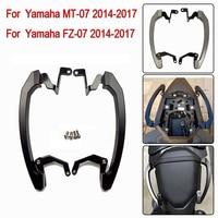 MT07 FZ07 14 17 Rear Seat Grab Handle Bars Pillion Passenger Grab Rail Handle For Yamaha MT 07 FZ 07 MT 07 2014 2015 2016 2017