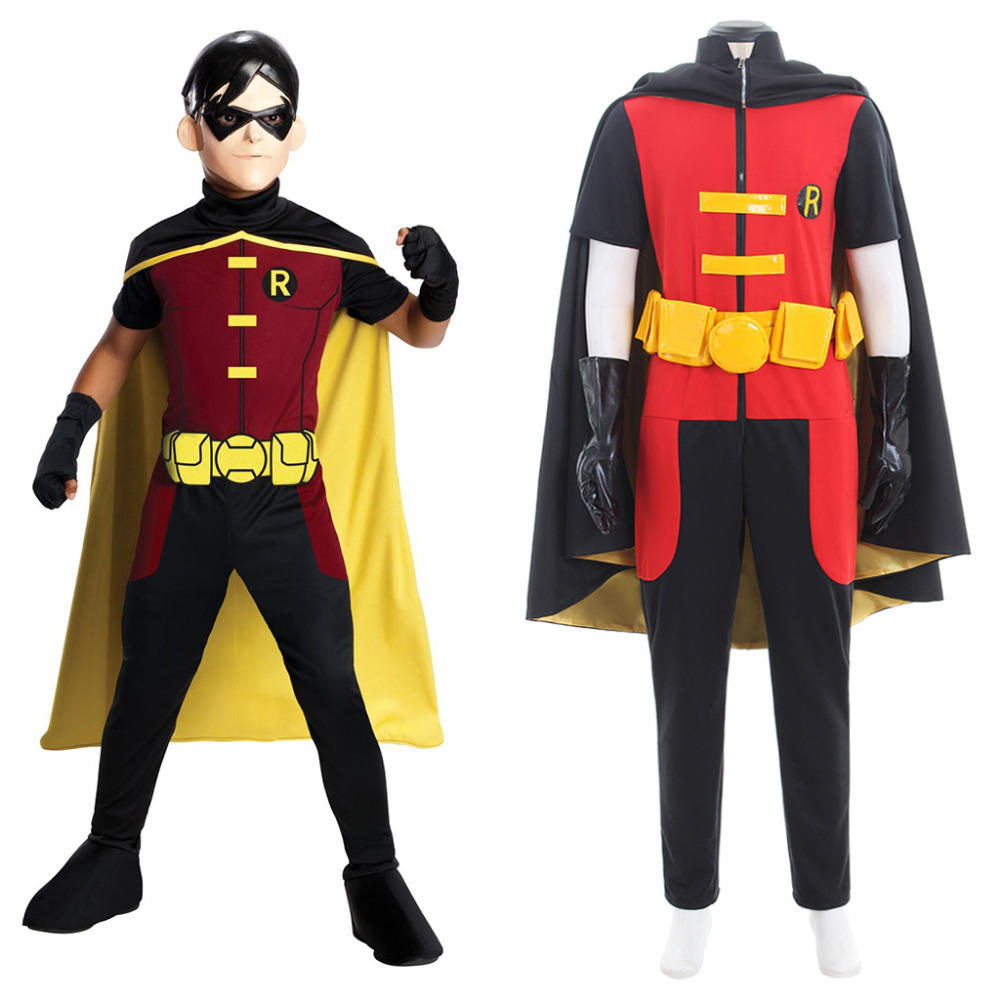 Young Justice Robin Costume Justice League Vs Teen Titans Robin Cosplay Costume Adult Halloween Costume