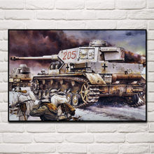 Military german Tank soldier battle living room decoration home art decor wood frame fabric poster KF874(China)