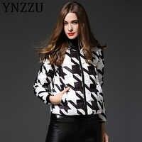 YNZZU 2019 automne nouveau femmes doudoune décontracté court à capuche Zipper femme veste hiver 90% blanc canard vers le bas manteau outwear A1039
