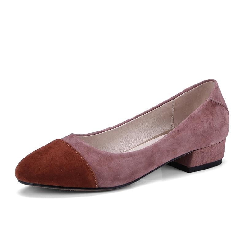 Sexy Apricot rose Talons Chaussures Qualité Soirée noir Confortable Travail Bout Rond Fedonas Patchwork Mode Femme Pompes Femmes De Hauts Mariage wHnY4tqCTx