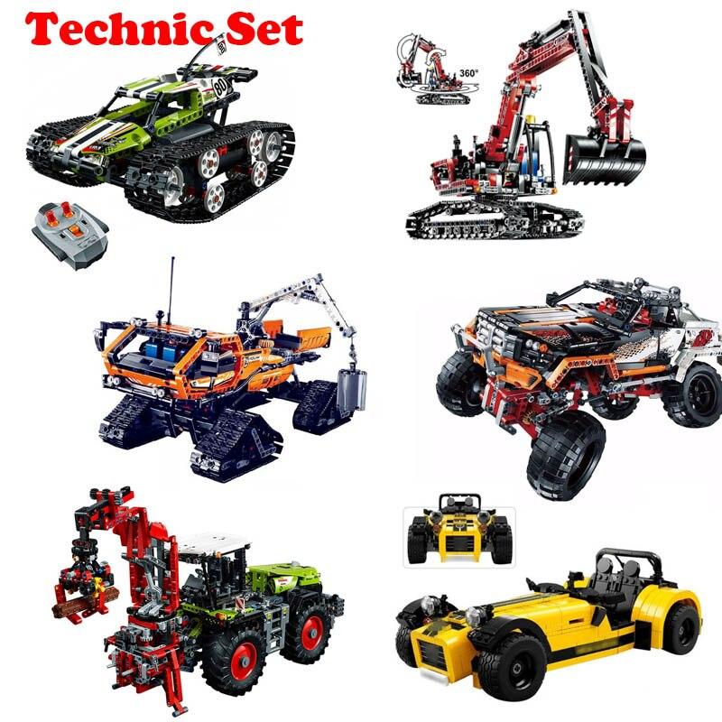 Lepin Ensemble Technique 20009 20012 21008 Legoing 42065 42054 42038 21037 Modèle jeu de construction Pour Enfants Tracteur RC Piste De Voiture