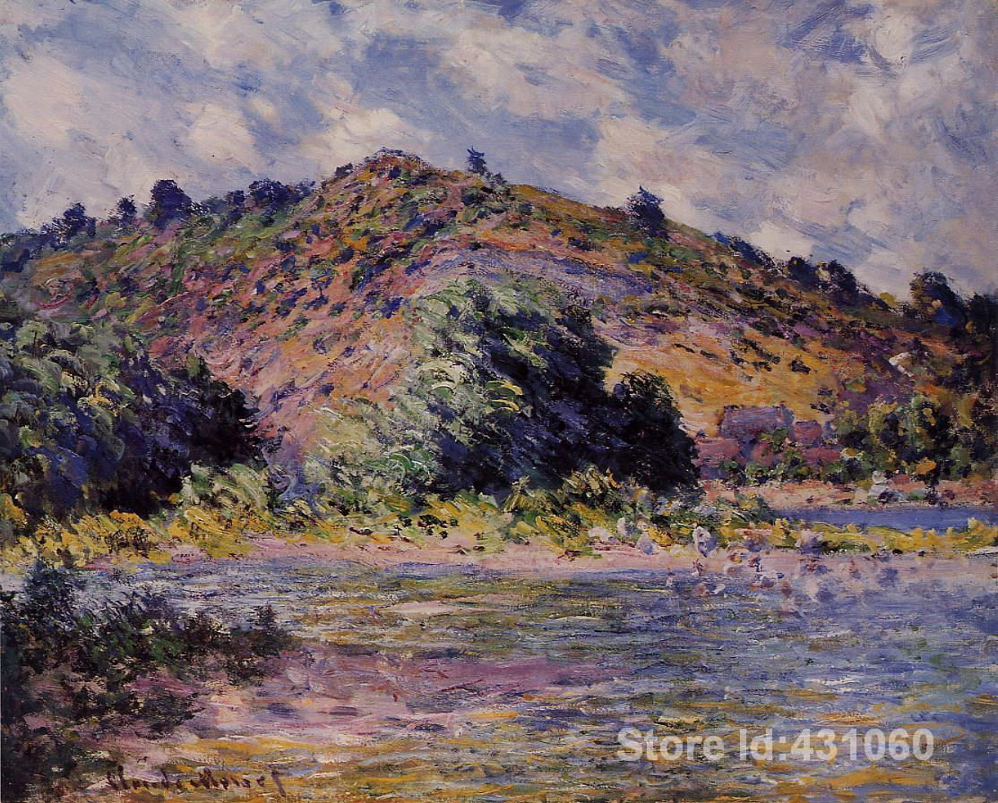 Famous Claude Monet's Paintings The Banks of the Seine at Port Villez Art Gallery for bedroom High quality Hand painted