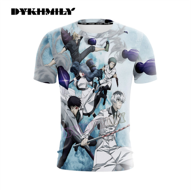 New Anime Tokyo Ghoul Character 3D Printing Casual T-Shirt