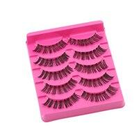 5 Pairs Handmade Thick Long False Eye Lashes Makeup Natural Soft Fake Eyelashes Extension Tools Beauty Magnify the Charming Eyes False Eyelashes