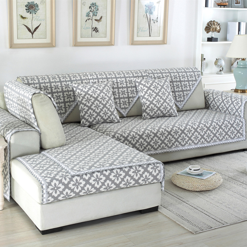 Jacquard Sofa Covers Sofa Towel Cotton Linen Fabric Four