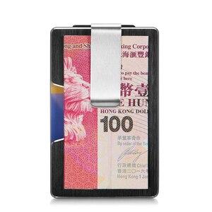 Image 3 - NewBring Credit Card Holder Metal With RFID Blocking Wallet  Integration Design Female And Male Money Purse EDC