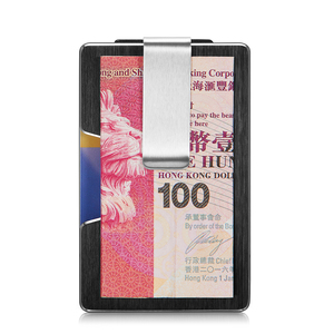 Image 3 - NewBring ผู้ถือบัตรเครดิตโลหะ RFID การปิดกั้นกระเป๋าสตางค์ Integration DESIGN หญิงและชายกระเป๋าเงิน EDC