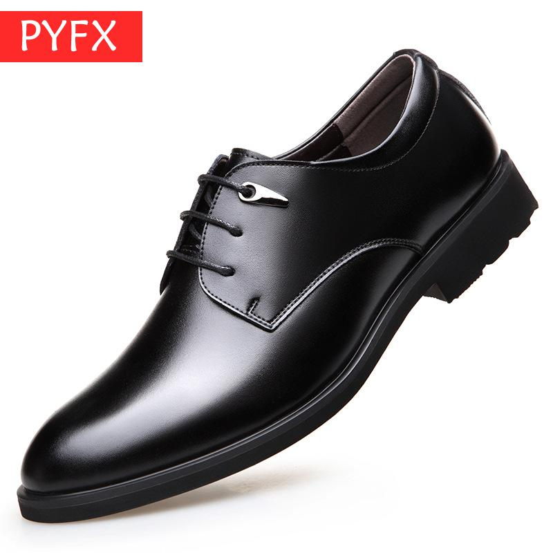 Autumn Men 39 s Fashion Business Leisure British Strap on Bullskin Derby black Shoes Wear resistant Easy care Discount Dress shoes in Formal Shoes from Shoes