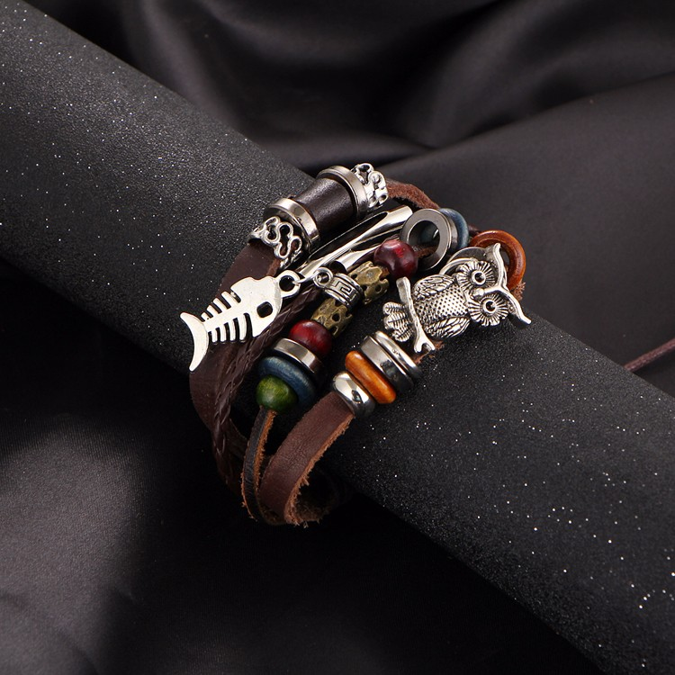 HTB18xAfMVXXXXaPXpXXq6xXFXXXv Trendy Leather Bracelet For Men And Women - 5 Styles