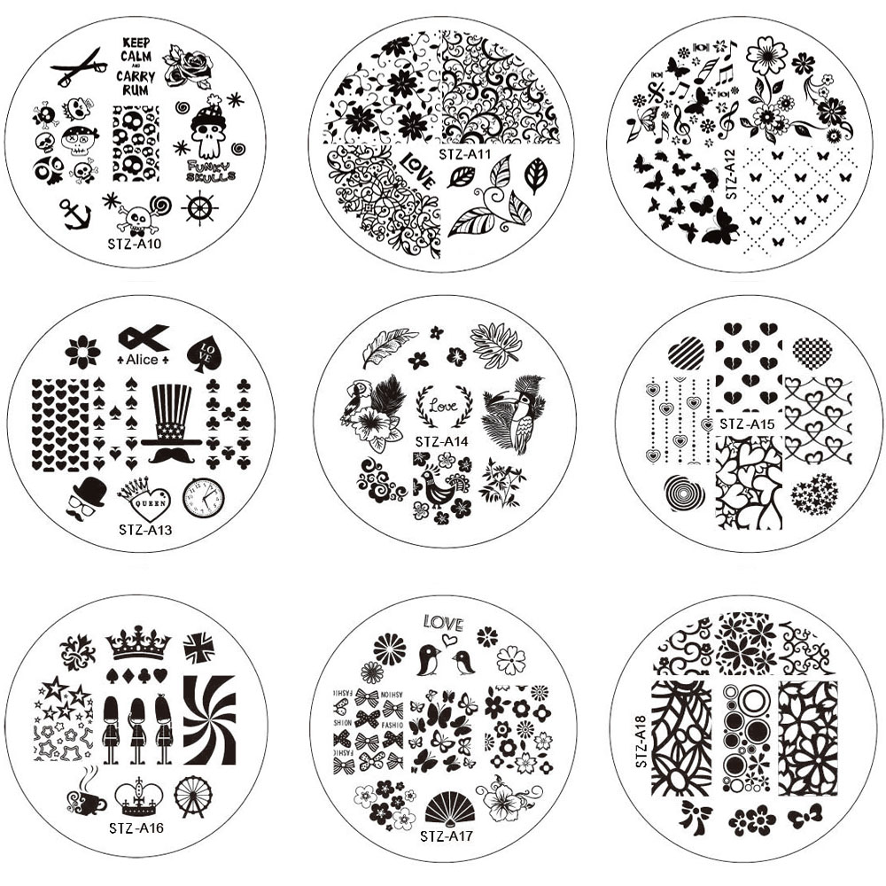 1pcs NEW Stamping Manicure Image Nail Art Image Stamp Template Plate DIY  Various Arabesque Butterfly Pattern LASTZA01 30 In Nail Art Templates From  Beauty ...