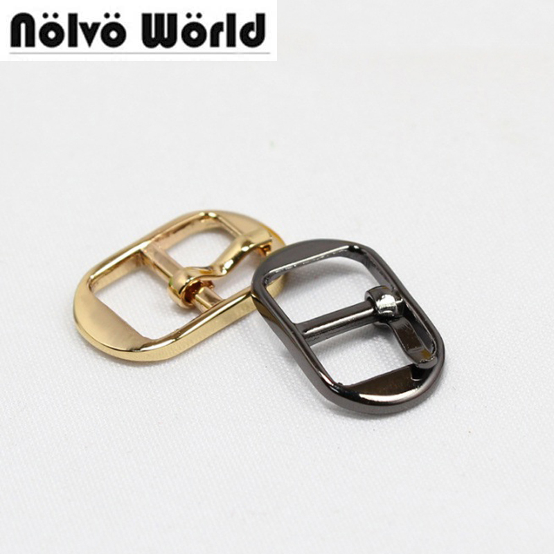 """50PCS 10.5mm(3/8"""") Gold Gunmetal color alloy small pin buckle,diy belts shoes bags adjusted strap buckle in buckles & hook"""