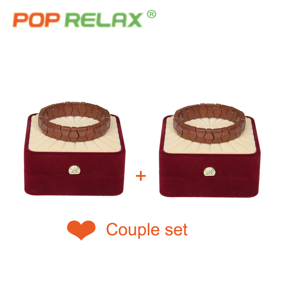 POP RELAX new fashion Korea germanium tourmaline bracelet for couples health care anion stone jewelry bracelet physical therapy pop relax tourmaline health products prostate massager for men pain relief 3 balls germanium stone far infrared therapy heater