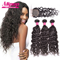 Brazilian Virgin Hair With Closure 8A Brazilian Hair Weave Bundles With Closure Natural Wave Virgin Hair With Closure Human Hair