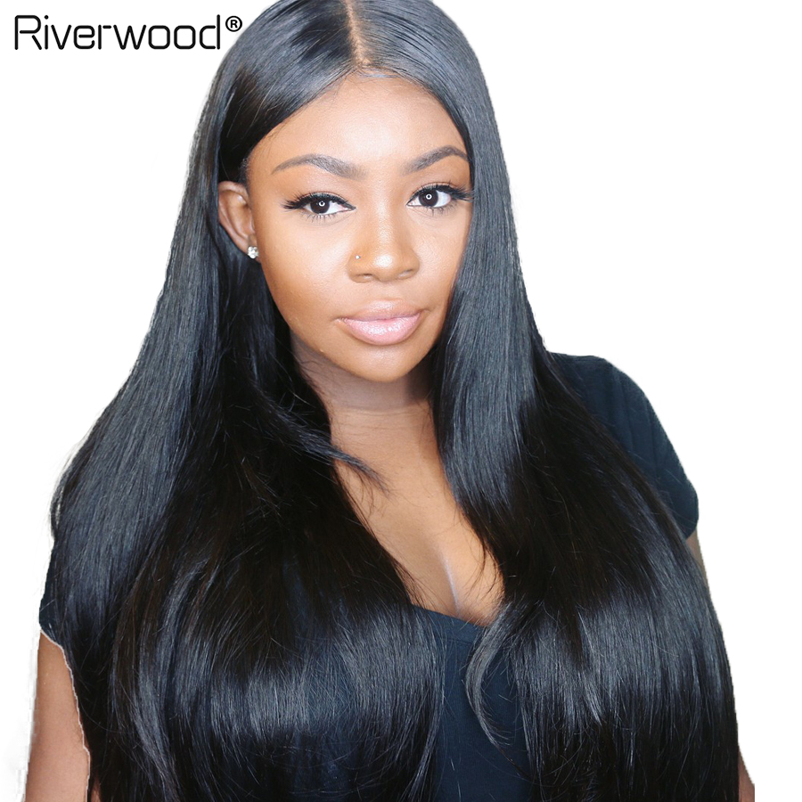 Brazilian Straight Hair Human Hair Lace Front Wigs 150% Density Pre Plucked With Baby Hair Remy Human Hair 4*4  Lace Frontal Wig