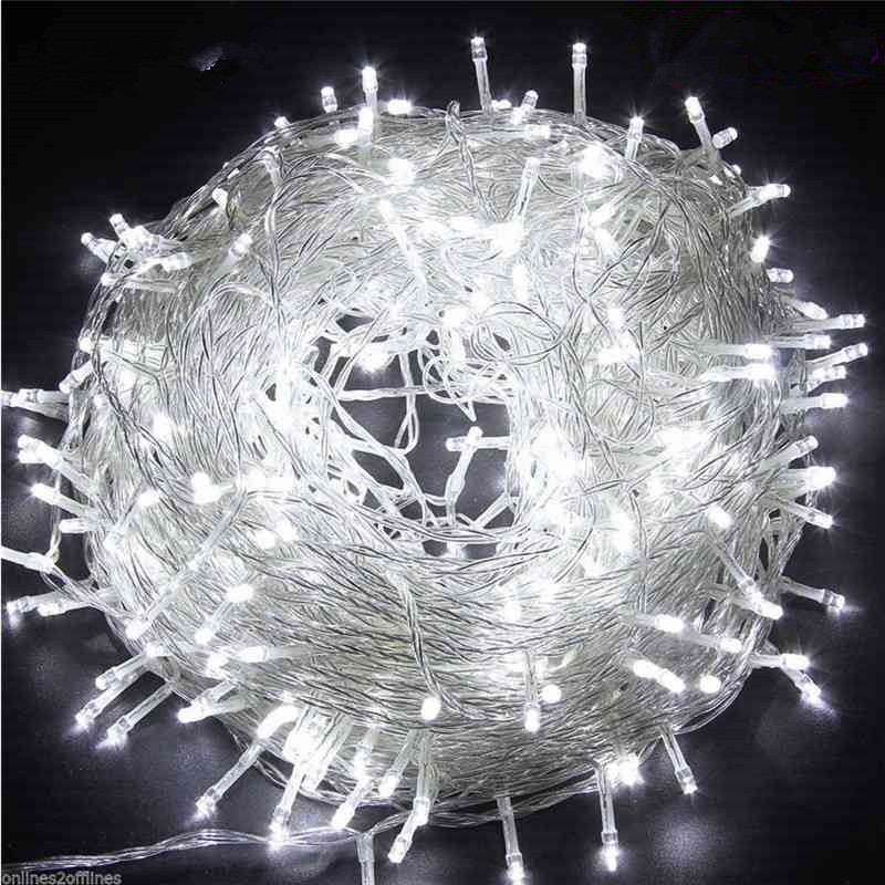 LED Lights String 10m 20m 30m 50m 100m Waterproof Outdoor 220V / 110V For Christmas Party Wedding Festival Outdoor Decoration