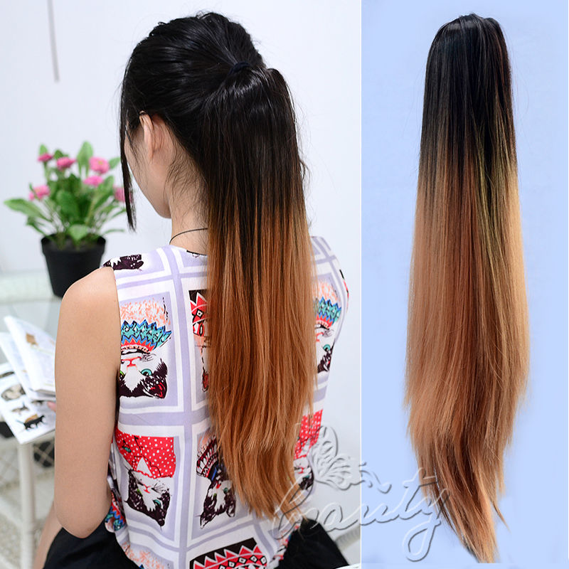 Neverland Multicolor 20 Long Straight Synthetic Hair Extensions Two
