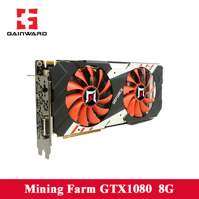 Gainward GTX1080 8G video Cards 1657MHZ 256bit 10010MHZ TDP180W 8+6pin 500W support HDMI+3*DP+DVI Graphics card For Gaming