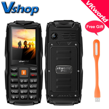 Original VKworld New Stone V3 3 SIM Card Waterproof Russian keyboard 2.4 inch Elders Mobile Phones Flashlight Cell phone