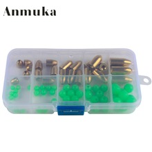 Anmuka 75PCS Almighty Rock Fishing Lures Accessories Crank Hook Bullet Copper Lead Head Treble Hook Texas Fishing Group
