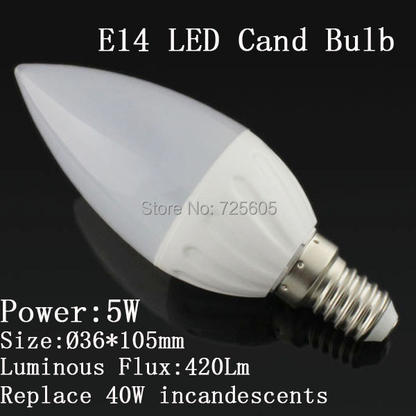 1 Cold white/warm white lampada led 220v e14 5W bulb candle light lamp - Shenzhen TOPLED Electronics Co ., Ltd . store