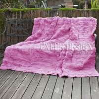 CX D 30 Sofa Blanket Custom Made Patchwork Rabbit Fur Throw Fur Blanket Mat Area Rug