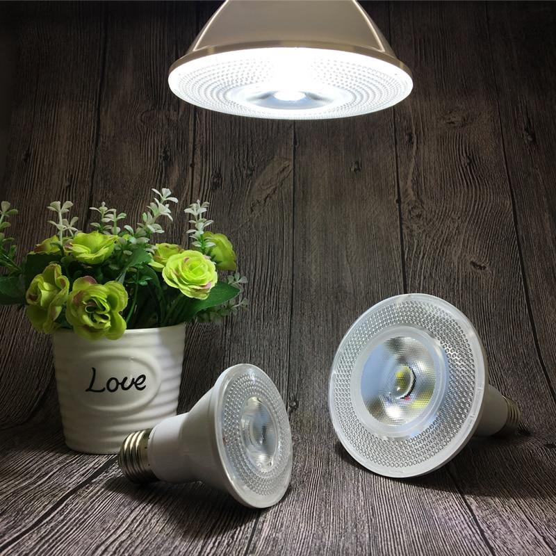 10W/18W/30W E27 PAR20 PAR30 PAR38 Waterproof IP65 LED Spot Light Bulb Lamp Indoor Lighting Dimmable AC85-265V free shipping 20w cob led light par38 e27 spotlight 90 100lm w par38 lamp dimmable led bulb warm cold white ac85v 265v 20pcs lot