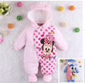 Newborn Clothes Minnie Mouse Baby Romper Winter Coverall Boy Clothing Winter Infant Overcoat for Girls Boy Warm Jumpsuit