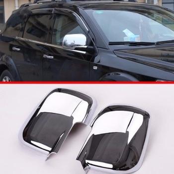 2x Porta Laterale ABS Cromato Posteriore Mirror Covers Trim Per Dodge Journey 2011 2012 2013 2014 [QPA363]