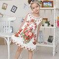 2016 Infantil Verão Vestido de Festa Impresso Da Menina Da Princesa Vestidos de Casamento Vestidos Para Meninas Estilo Europeu Vestidos Da Menina Da Criança