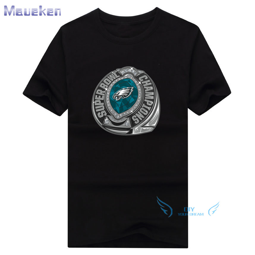 2018 Champions Super Lii Bowl 52 Ring Logo 100 Cotton T