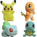 4 Styles 15-22CM Size Pikachu & Bulbasaur & Squirtle & Charmander Plush Toys Plush Doll