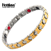 Hottime Lady S Health Energy Magnetic Bracelets Stainless Steel Bio Element Magnetic Germanium Bracelet For Women