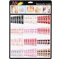 Candy Lover Valse Nail Franse Acryl Volledige Cover Nail Art Tips Rhinestones 144 stks/partij 3D Valse Nail Nail Art Tips