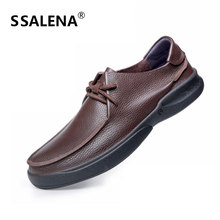 Men Genuine Leather Casual Shoes Male Cowhide Fashion Shoes Comfortable Formal Business Flat Shoes Big Size