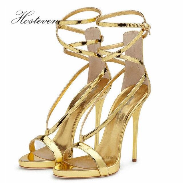 Hosteven Hot Sale Summer Vogue Women's Shoes Fashion Thin High Dancing High Heel Sandals Sexy Wedding Pumps Size 34-46