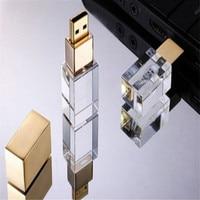 3D Inside Logo Custom Photography Glass Crystal USB Flash Drive 2 0 4gb 8gb 16gb 32gb