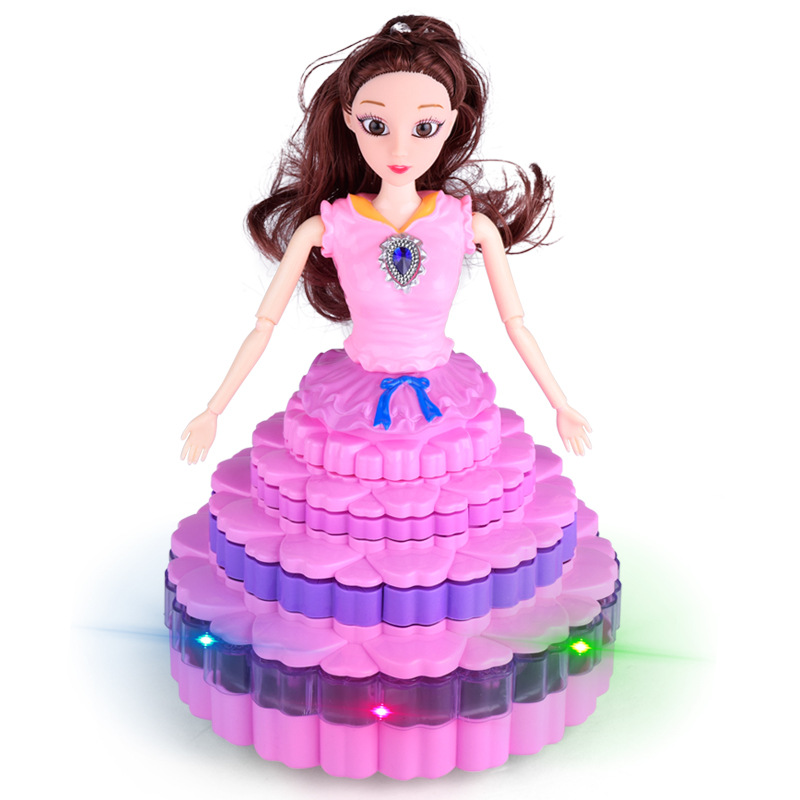 Grace Music Dancing Princess beautiful handmade plastic dancing girls dolls LED Electronic dolls unique gifts toys for girls