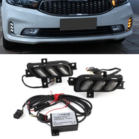 New Auto Car Driving Daytime Running Light White Yellow Blue Turn Signal For KIA K3 2017 Free Shipping D35