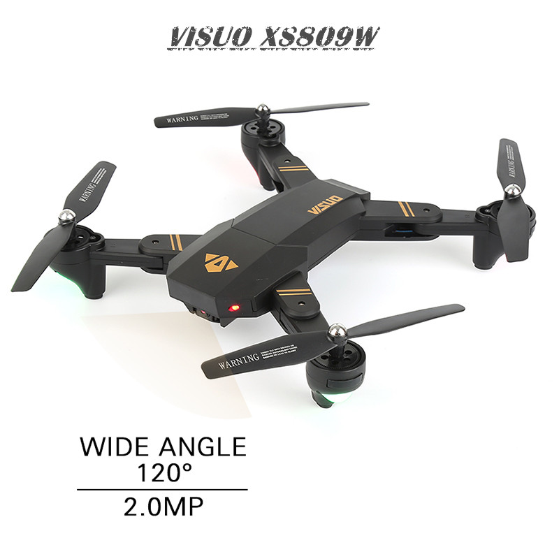 VISUO XS809HW XS809W Mini Drone with Camera WiFi FPV Dron Altitude Hold RC Helicopter Foldable Quadcopter RC Drones With 2 BET xs809w mini foldable drone rc selfie drone with wifi fpv hd camera headless mode rc quadcopter drone portable model