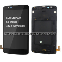 5.0 screen with frame display replacement for LG K8 2016 K350N K350DS K350E LTE LCD screen