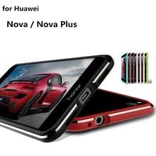 Чехол для huawei Nova роскошный Ультратонкий алюминиевый бампер для huawei Nova Plus чехол+ 2 пленки(1 передняя+ 1 задняя