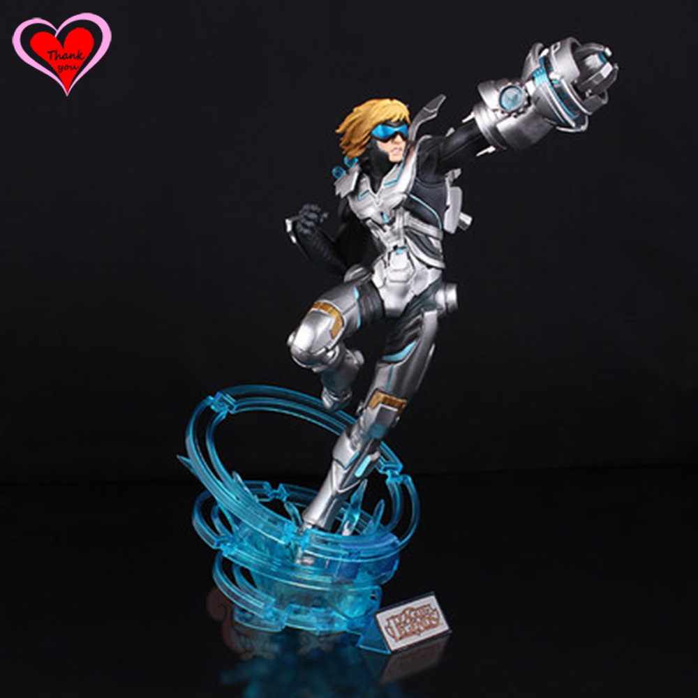Love Thank You  The Prodigal Explorer Pulsefire Ezreal PVC Anime Figure Toy Collection model gift New Hobby  LOL love thank you black butler ciel phantomhive book of murder 22cm pvc anime figure toy model gift new