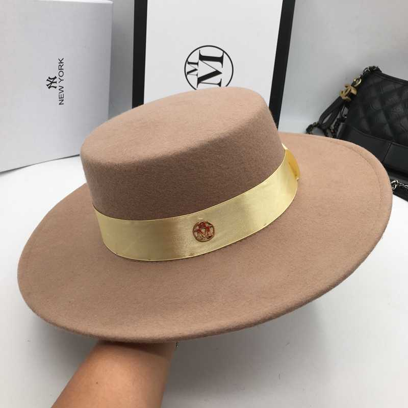 bbdfd6adf09 ... And camel wool hats for men and women joker Flat hat letters flat brim felt  hat ...